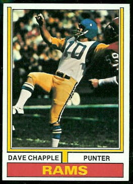 Dave Chapple 1974 Topps football card