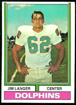 Jim Langer - 1974 Topps #397 - Vintage Football Card Gallery