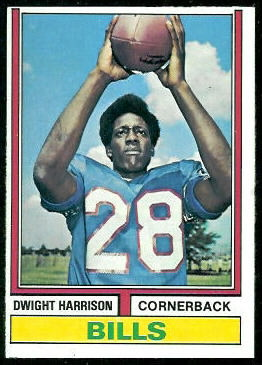 Dwight Harrison 1974 Topps football card