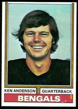 Ken Anderson 1974 Topps football card