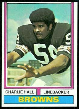 Charlie Hall 1974 Topps football card