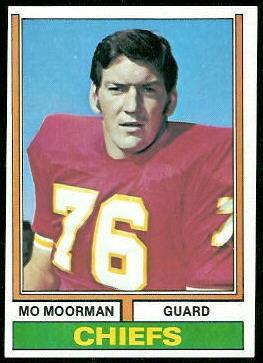 Mo Moorman 1974 Topps football card