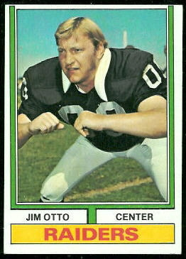 Jim Otto 1974 Topps football card