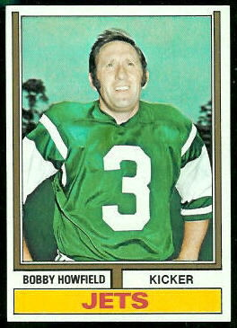 Bobby Howfield 1974 Topps football card