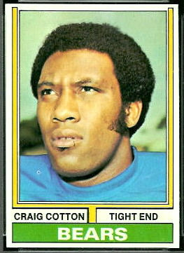 Craig Cotton 1974 Topps football card