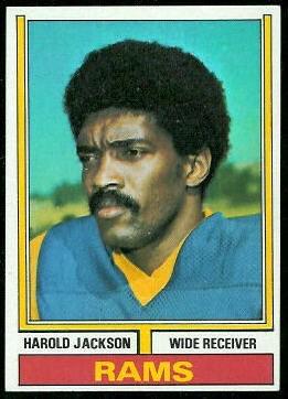 Harold Jackson 1974 Topps football card