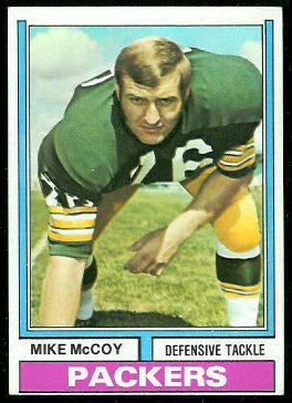 Mike McCoy 1974 Topps football card