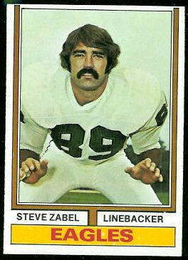 Steve Zabel 1974 Topps football card