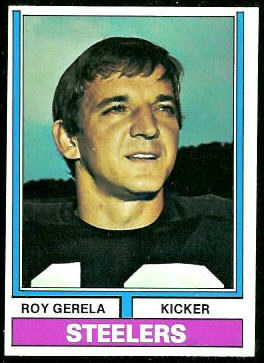 Roy Gerela 1974 Topps football card