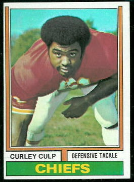 Curley Culp 1974 Topps football card