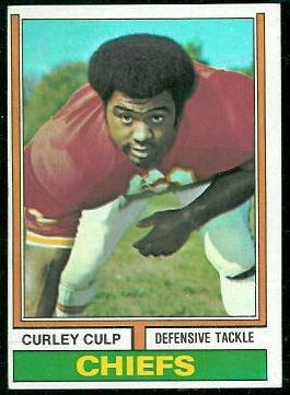 Curley Culp 1974 Topps football card