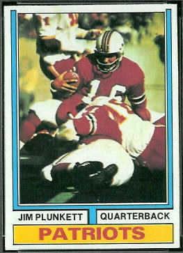 Jim Plunkett 1974 Topps football card