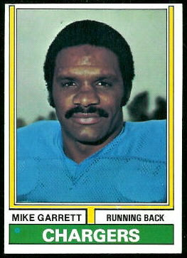 Mike Garrett 1974 Topps football card