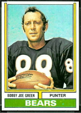 Bobby Joe Green 1974 Topps football card