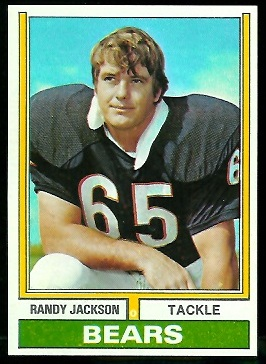Randy Jackson 1974 Topps football card