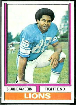 Charlie Sanders 1974 Topps football card