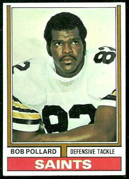 Bob Pollard 1974 Topps football card