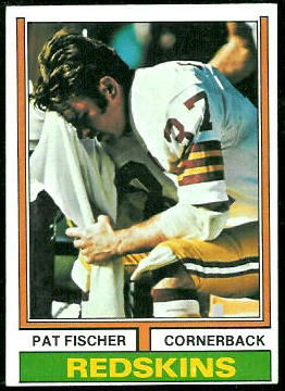 Pat Fischer 1974 Topps football card