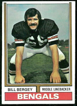 Bill Bergey 1974 Topps football card