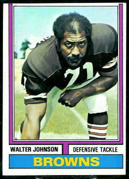 Walter Johnson 1974 Topps football card