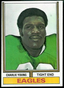 Charle Young 1974 Topps football card