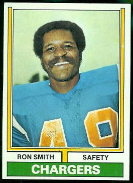 Ron Smith 1974 Topps football card