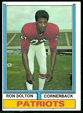 Ron Bolton 1974 Topps football card