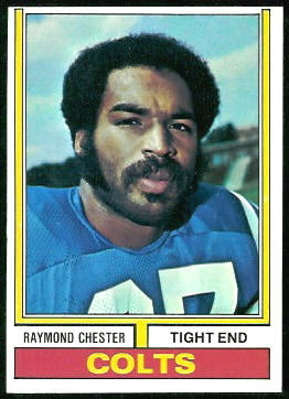 Raymond Chester 1974 Topps football card