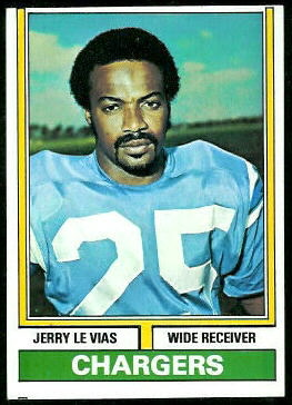 Jerry LeVias 1974 Topps football card