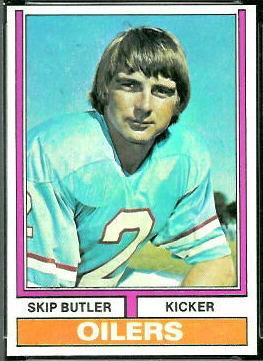 Skip Butler 1974 Topps football card