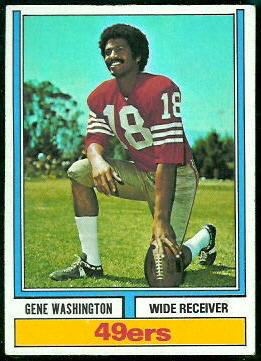 Gene Washington 1974 Topps football card