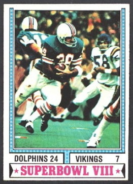 Super Bowl VIII 1974 Topps football card