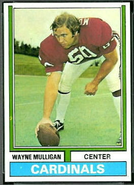 Wayne Mulligan 1974 Topps football card