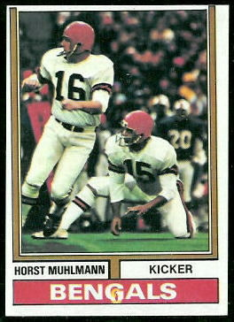 Horst Muhlmann 1974 Topps football card