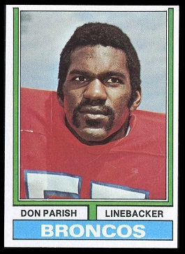 Don Parish 1974 Topps football card