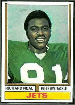 Richard Neal 1974 Topps football card
