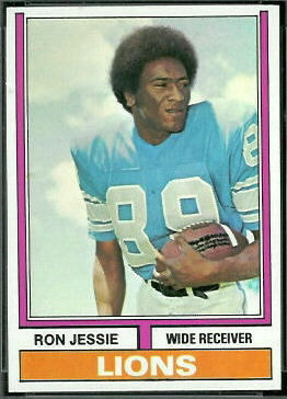 Ron Jessie 1974 Topps football card