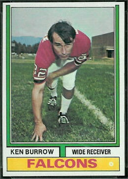 Ken Burrow 1974 Topps football card