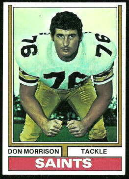 Don Morrison 1974 Topps football card