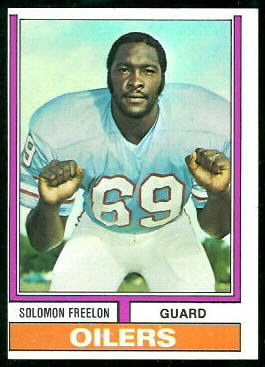 Solomon Freelon 1974 Topps football card
