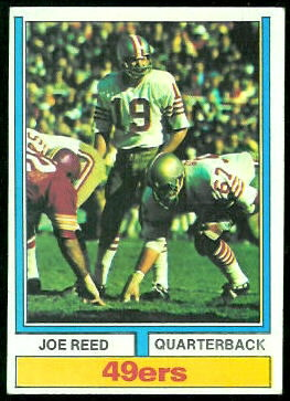 Joe Reed 1974 Topps football card