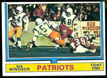 Bob Windsor 1974 Topps football card