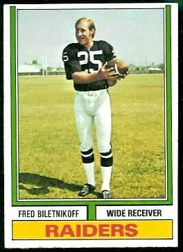 Fred Biletnikoff 1974 Topps football card