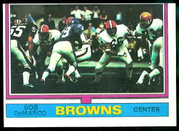 Bob DeMarco 1974 Topps football card