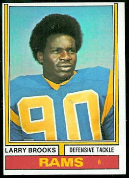 Larry Brooks 1974 Topps football card