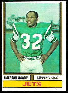 Emerson Boozer 1974 Topps football card