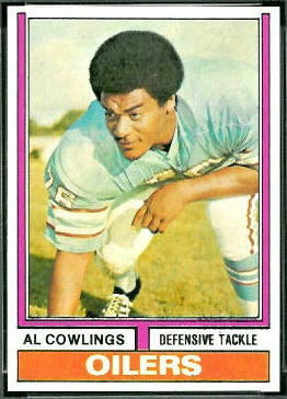Al Cowlings 1974 Topps football card