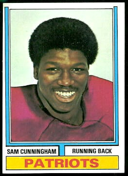 Sam Cunningham 1974 Topps football card
