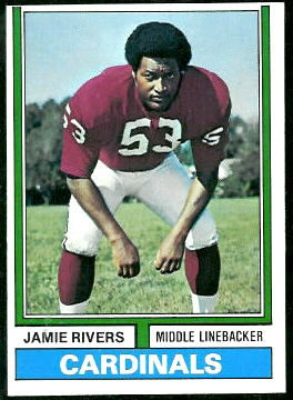 Jamie Rivers 1974 Topps football card