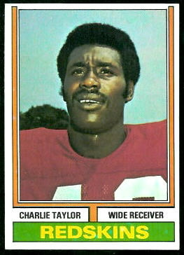 Charley Taylor 1974 Topps football card